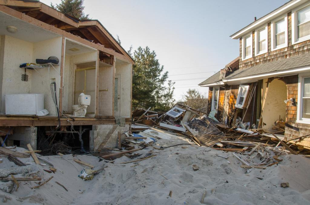 FEMA Home Destroyed in Bayhead, New Jersey